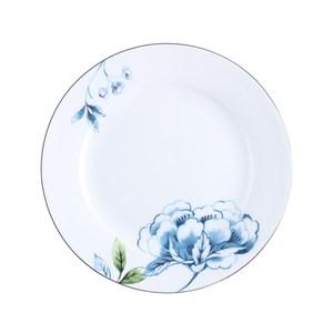 HOLA 藍羽骨瓷平盤20.5cm 微波金