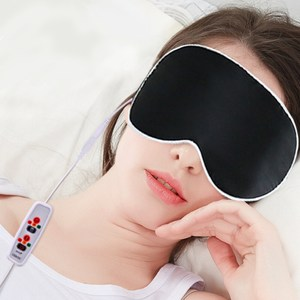 【APEX】USB三段絲質恆溫熱敷眼罩(買一送一)紫色