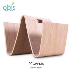 obis Martin 馬汀W造型雜誌架小茶几-橡木色