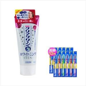 日本 Kao花王美白牙膏 蘋果薄荷(120g)*3+Oral B 牙刷