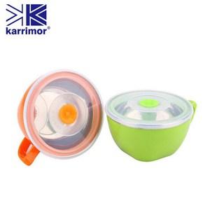 英國Karrimor 內膽304不鏽鋼晶彩保鮮碗-橘色 KA-B900