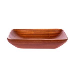 桃花心木長方型淺盤-大