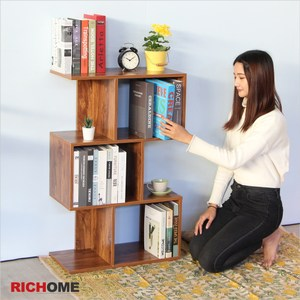 【RICHOME】MITCH原創低書櫃 胡桃木
