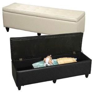北歐時尚長排床尾收納箱椅一入