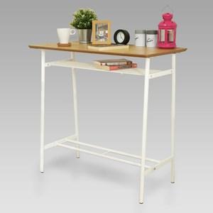 《C&B》印塔工業風實用吧檯桌(兩色可選)原木色