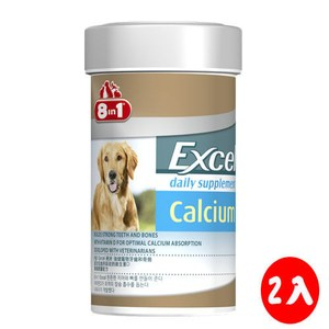 8in1 美國 Excel成幼犬活力鈣片 155錠 X 2罐