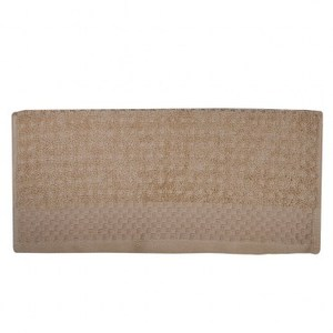 HOLA home 格紋毛巾 卡其色 40x70cm