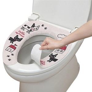 日本SANKO兒茶素抗菌防臭馬桶座墊貼(小花貓)