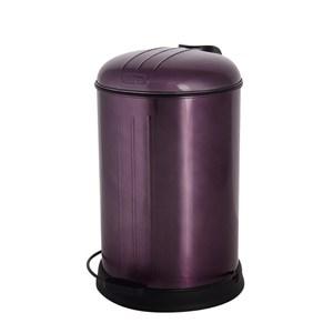 HOLA home復古緩降不鏽鋼垃圾桶12L 極光紫