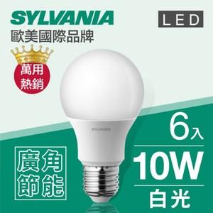 【喜萬年】 LED E27 10W 燈泡 白光(6500K)-6入組