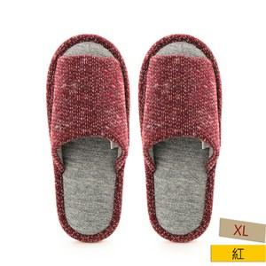 HOLA 舒適毛線保暖拖鞋 紅XL