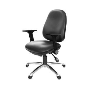 GXG 低背泡棉 電腦椅 (摺疊扶手/鋁腳)TW-8119 LU1