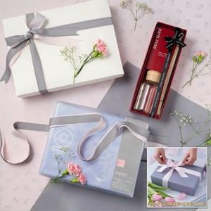 (組)禮盒-淺夏紫天絲緹花床被組雙人+SS巴黎玫瑰馨香竹
