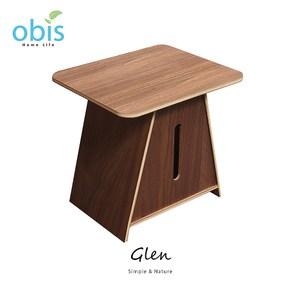 【obis】Glen木作面紙盒-胡桃色