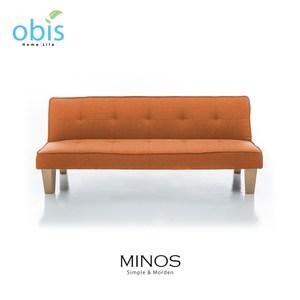 obis MINOS 北歐風質樸布沙發床-橘色