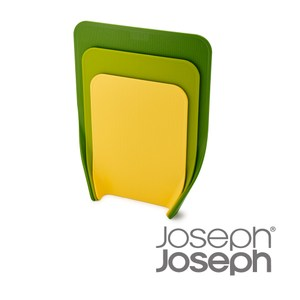 【Joseph Joseph】好收納直立砧板三件組(多彩綠)
