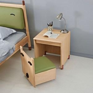 林氏木業 北歐兒童床頭櫃收納儲物桌子多功能臥室床邊置物櫃LS114