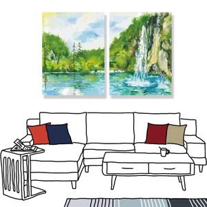 【24mama 掛畫】二聯式 油畫布 無框畫 60x80cm-富麗