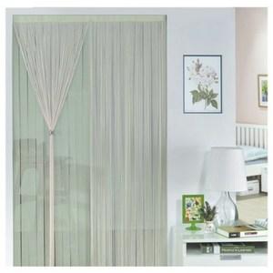 金格拉斯雙層雙色線簾90x180cm黃綠