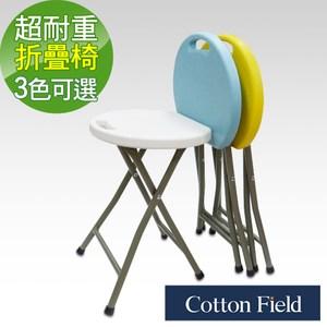 (任2入)棉花田【海爾】多功能加強型耐重折疊椅(3色可選)黃色