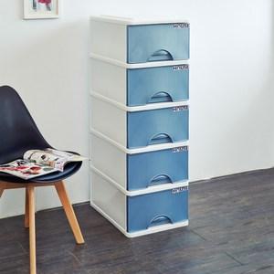 大自然五層收納置物櫃(32公升5層櫃)-藍