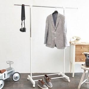 【H&R安室家】台製時尚單桿延伸曬衣架/掛衣架-HG42黑色