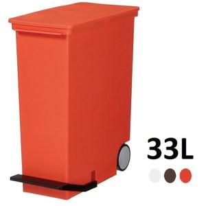【日本Like it】直立式分類垃圾桶 33L -紅色