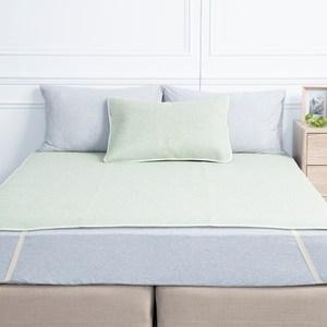 HOLA 薇爾亞藤抗菌防蟎加大床蓆180x186cm 綠