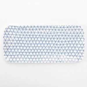HOLA 荷莉長方盤 21.5cm 藍三角