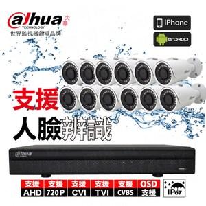 【Dahua】套餐 16路主機 12鏡 含硬碟4T+15米懶人線