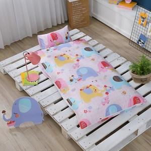 GOLDEN-TIME-大象豐年祭-精梳棉200織紗兒童睡袋(粉)