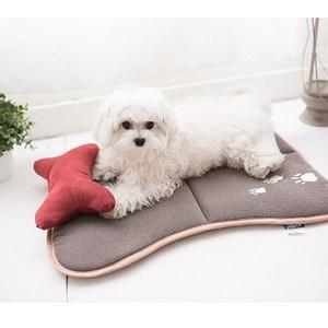 【凱蕾絲帝】保暖鋪棉混仿羊毛寵物止滑睡墊(大)