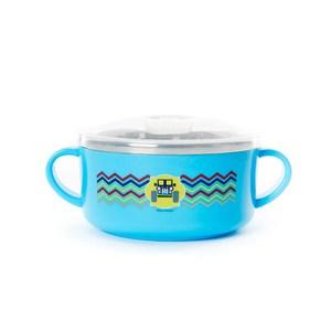 兒童不鏽鋼碗 10cm 噗噗車 淺藍