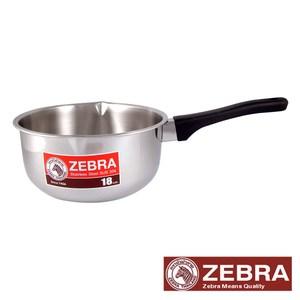 【Zebra 斑馬】#304不鏽鋼雪平鍋 18公分