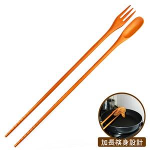 【佶之屋】三合一加長型調理匙叉筷一入組