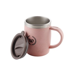 【PUSH!】304不鏽鋼保溫杯帶蓋(420ML北歐粉一入)E102-1