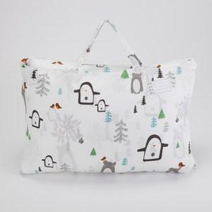 HOLA 雪白世界木棉絲防螨抗菌睡袋