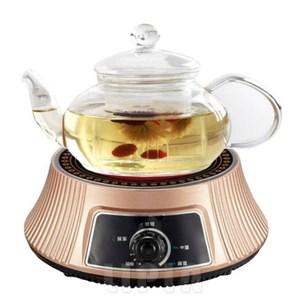 [結帳享優惠]德朗牌黑晶不挑鍋電陶爐 耐熱高硼硅玻璃茶壺組 DEL-9900