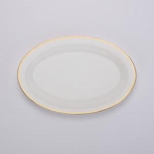 HOLA home 金弦骨瓷魚盤32cm