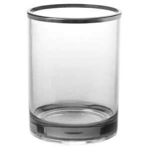 HOLA 現代方框漱口杯 水晶銀
