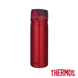 【THERMOS膳魔師】彈蓋不鏽鋼真空保溫瓶0.5L(JMY-500)紅色