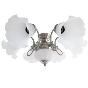 隆德6+1燈通用吊扇燈具亮鎳