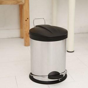 【ikloo】不鏽鋼腳踏垃圾桶-12L