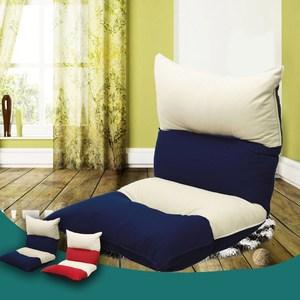 【KOTAS】楓卡拼色舒適五段和室椅-藍單人