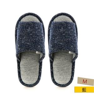 HOLA 舒適毛線保暖拖鞋 藍M