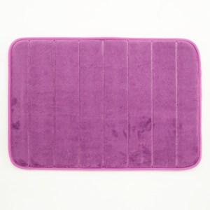直紋舒壓止滑記憶棉踏墊 45x65cm 紫