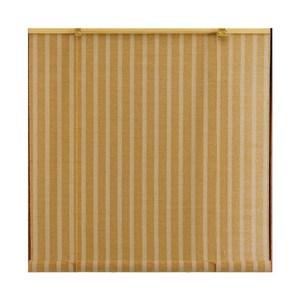 直條麻編捲簾 褐90x165cm