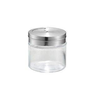 日本進口 不鏽鋼蓋玻璃調味罐100ML-IW-178800