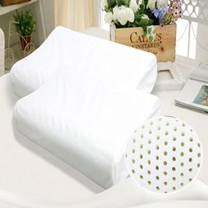 【KOTAS】 護頸親膚柔軟釋壓助睡眠顆粒透氣型乳膠枕-白單人