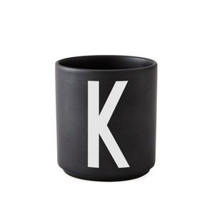 Design Letters 字母骨瓷杯黑 K